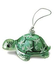 hawaiian glass ornament honu turtle home