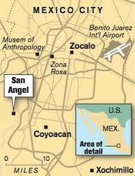 Mexico City Airport Map San Angel A Quieter Alternative To Coyoacán Sfgate