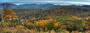 brilliant fall foliage atop virginia u0027s blue ridge mountains