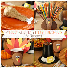 art for thanksgiving 4 easy kids thanksgiving table craft tutorials creative juice