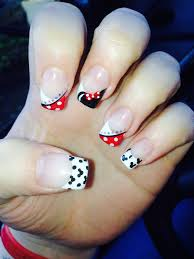 disney nail art minnie mouse our next disney cruise pinterest