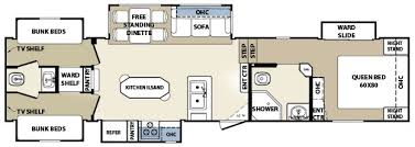 bunkhouse fifth wheel floor plans trailer life directory open roads forum fifth wheels bunkhouse