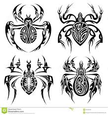 tribal spiders tattoo design stock vector image 39765550
