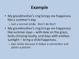 grandmother s ring homeric simile exles facile depict exle my grandmother e 2