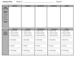 pre kindergarten the brunswick daily lesson plan template