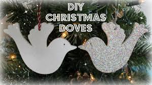 diy christmas dove christmas tree decorations christmas