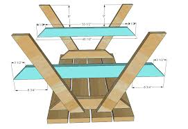Free Small Wooden Table Plans by Ana White Build A Bigger Kid U0027s Picnic Table Diy Projects