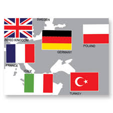 World Map Country Flags Wall Sticker With Country Flag