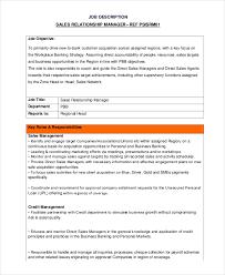 risk description template sales director description