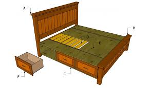 Diy Full Size Platform Bed With Storage Plans by Bed Frames Diy King Size Bed Frame Plans Platform How To Build A