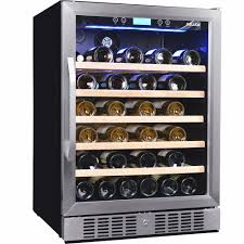 mini fridges and wine coolers bj s wholesale club newair 52 bottle wine cooler