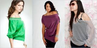 simple stylish one shoulder the shoulder shirts tops for