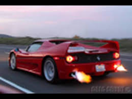 pictures of ferraris f50 shooting flames preview