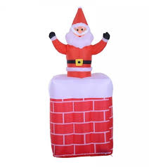 santa claus airblown chimney outdoor