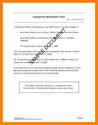 6 child travel consent letter lease template