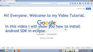 tutorial android using eclipse how to install sdk in eclipse using eclipse android tutorial youtube