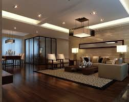 Kitchen And Dining Room With Travertine Tile Floor With Flooring - Wood living room design