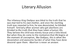 Oedipus Blinds Himself Literary Allusion The Infamous King Oedipus Was Blind To The Truth