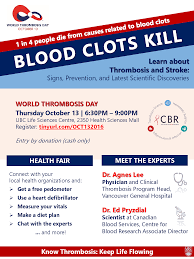 world thrombosis day centre for blood research
