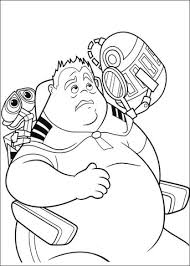 walle coloring pages wall e and fat guy coloring page free printable coloring pages