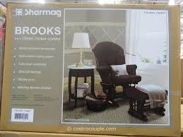 Glider Rocker With Ottoman Shermag Brooks Glider Rocker With Ottoman