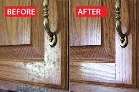 how to remove grease from wood cabinets her everyday household items remove months of grease from her