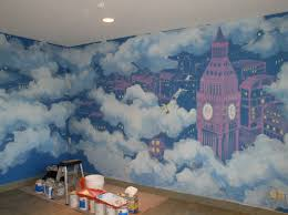 how to paint a wall mural winsome painted wall murals pinterest home design painted wall