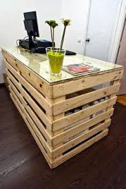 diy pallet computer desks wood computer desk pallet wood and