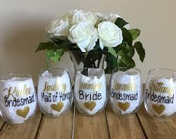 Bridesmaid Asking Gifts Bridesmaid Glasses