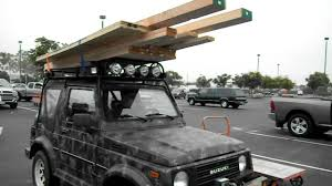 suzuki samurai truck suzuki samurai with a heavy duty safari rack youtube