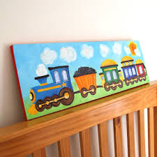 Train Art For Boys Nursery TRAIN X Canvas Painting For - Canvas paintings for kids rooms