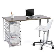 Container Store Chair Driftwood Melamine Desk Top The Container Store