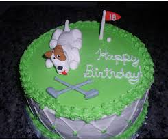 birthday cake with golf course theme decor png