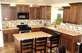 Dark Kitchen Cabinets With Backsplash Decor Oak Kitchen Cabinets With Simple Amerock And Peel And Stick