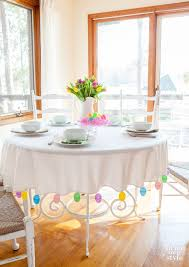 tablecloth decorating ideas easter egg trimmed tablecloth in my own style