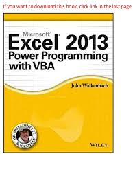 excel 2013 power programming with vba 1st edition pdf online free dow u2026