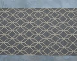 Grey Dhurrie Rug Gray Geometric Rug Etsy