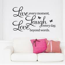 Love Laugh Live Home Decor Wall Stickers Live Love Laugh Letters Transprent