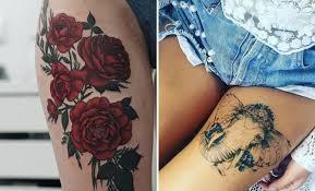 Female Thigh Tattoo Ideas 25 Badass Thigh Tattoo Ideas For Women Stayglam
