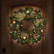 the st john u0027s wood golden cordless holiday trim wreath