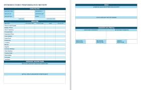 annual review report template free employee performance review templates smartsheet