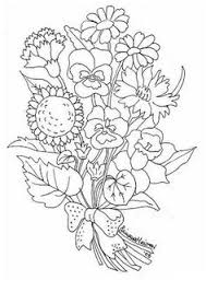 bouquet flowers coloring printable coloring sheets