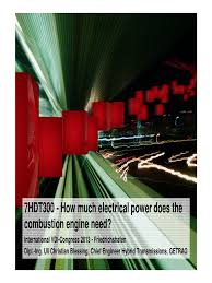 7hdt300 how much electrical power does the combustion engine