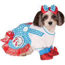 dog clothes for halloween the wizard of oz dorothy dog costume buycostumes com