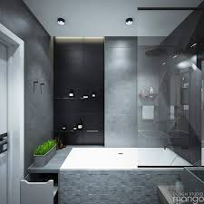 modern small bathroom designs combined with variety of tile