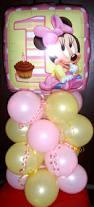 Diy 1st Birthday Centerpiece Ideas Baby Minnie Mouse Pink And Yellow Theme 1st Birthday Balloon