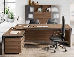 bureau de direction avec retour eos bureau directeur matériaux verre ou bois équipement neuf
