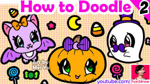 how to draw easy things halloween art youtube