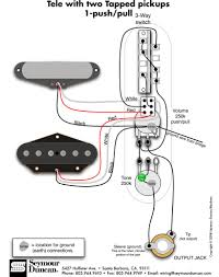 tele wiring diagram 2 tapped pickups 1 push pull cigar guitar