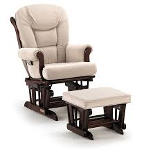 glider rocker with ottoman amazon com shermag glider rocker combo espresso with pearl beige baby